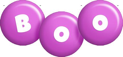Boo candy-purple logo