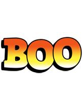 Boo sunset logo