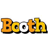 Booth cartoon logo
