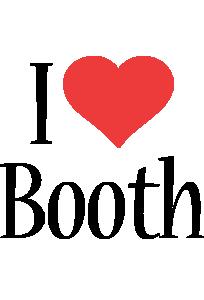 Booth i-love logo