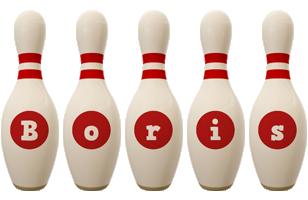Boris bowling-pin logo