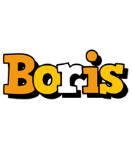 Boris cartoon logo