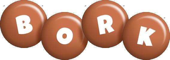 Bork candy-brown logo