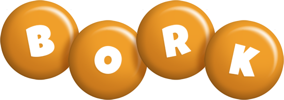 Bork candy-orange logo