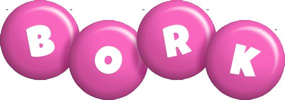 Bork candy-pink logo