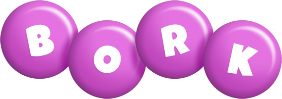 Bork candy-purple logo
