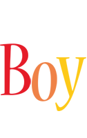 Boy birthday logo