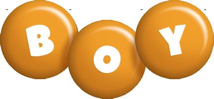 Boy candy-orange logo