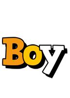 Boy cartoon logo