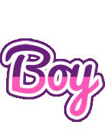 Boy cheerful logo
