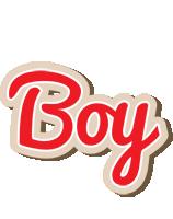 Boy chocolate logo