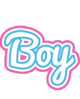 Boy outdoors logo