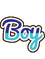 Boy raining logo