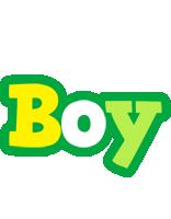 Boy soccer logo