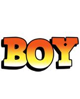 Boy sunset logo