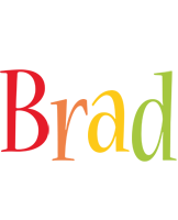 Brad birthday logo