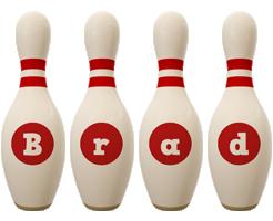 Brad bowling-pin logo