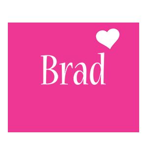 Brad love-heart logo