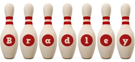 Bradley bowling-pin logo