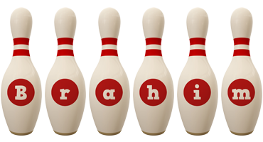 Brahim bowling-pin logo