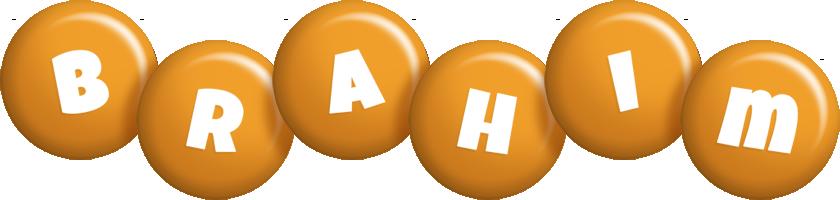 Brahim candy-orange logo