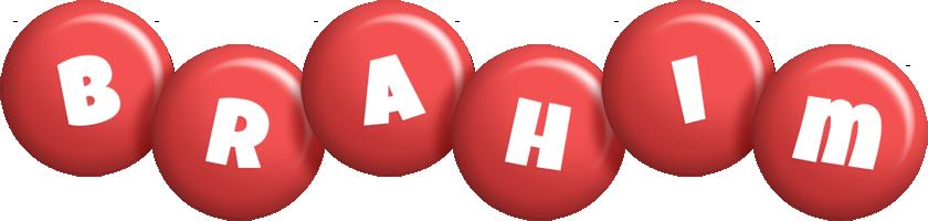 Brahim candy-red logo