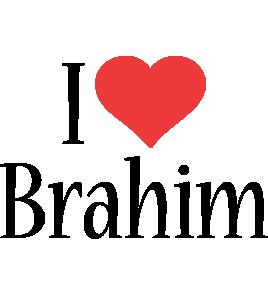 Brahim i-love logo
