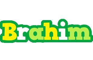 Brahim soccer logo
