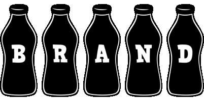 Brand bottle logo