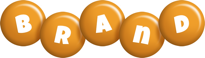 Brand candy-orange logo