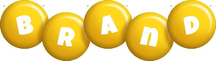 Brand candy-yellow logo