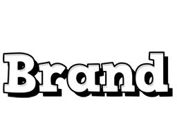 Brand snowing logo