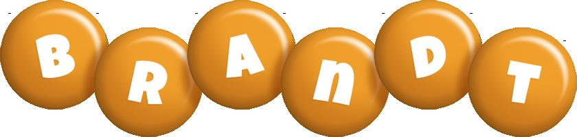 Brandt candy-orange logo
