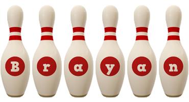 Brayan bowling-pin logo
