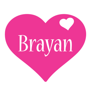 Brayan love-heart logo