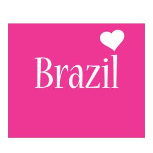 Brazil love-heart logo
