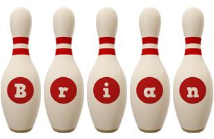 Brian bowling-pin logo