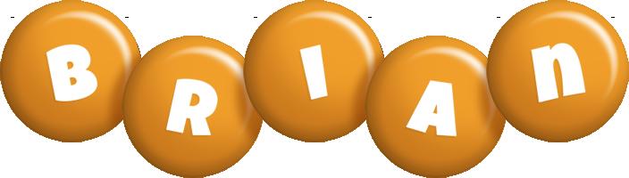 Brian candy-orange logo