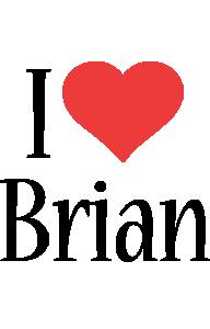 Brian i-love logo