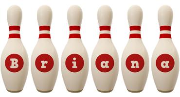 Briana bowling-pin logo