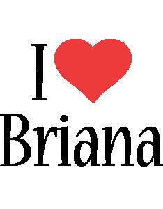 Briana i-love logo