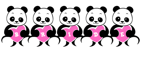 Bride love-panda logo