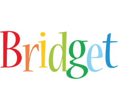 Bridget birthday logo