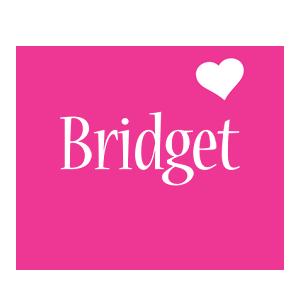 Bridget Logo   Name Logo Generator - I Love, Love Heart ...