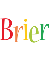 Brier birthday logo