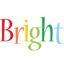 Bright birthday logo