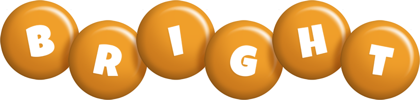 Bright candy-orange logo