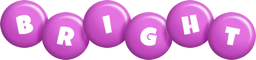 Bright candy-purple logo