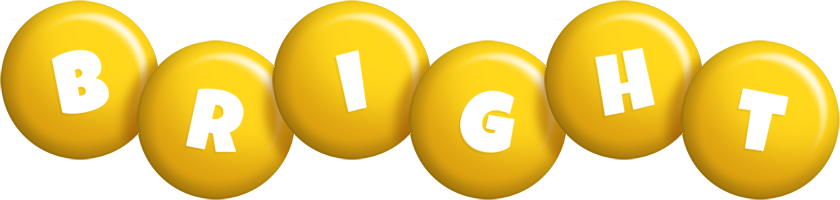 Bright candy-yellow logo
