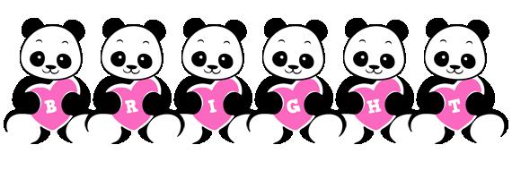 Bright love-panda logo